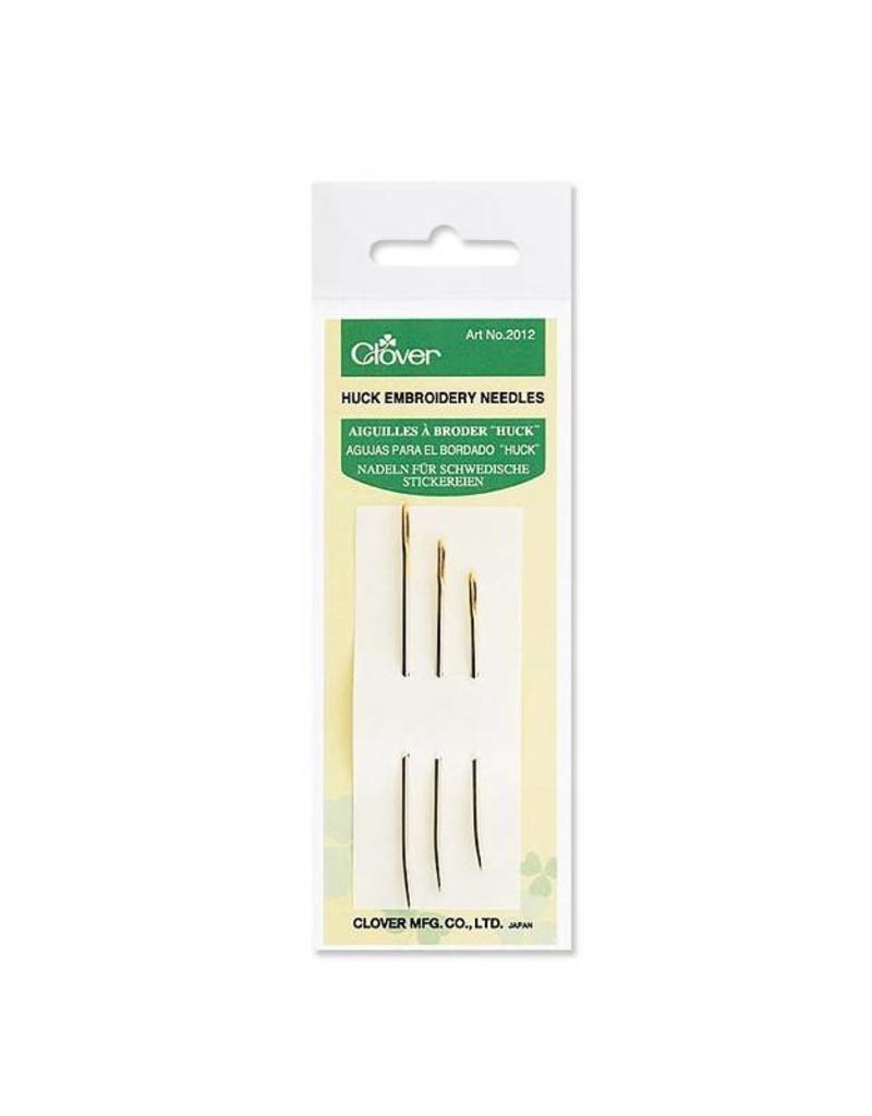 Clover Huck Embroidery Needles, metal, bent-tip needles