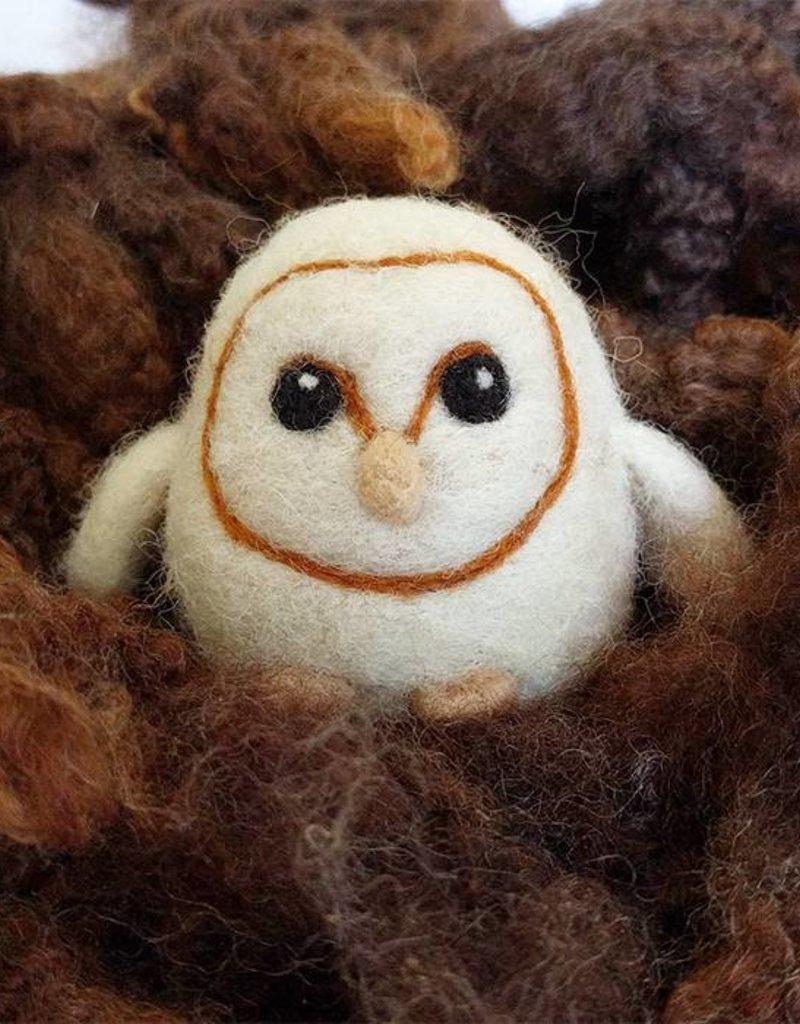 Needle Felting Barn Owl Workshop - Sunday,  July 29th 1-3pm