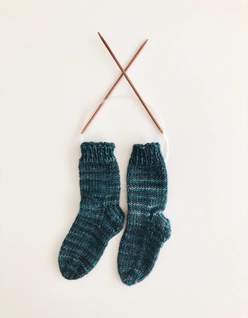 Class Two at a Time Toe-up Socks