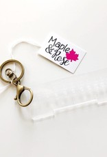 Maple & Rose Maple & Rose Gauge Keychain-Acrylic