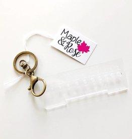Maple & Rose Maple & Rose Gauge Keychain-Acrylic