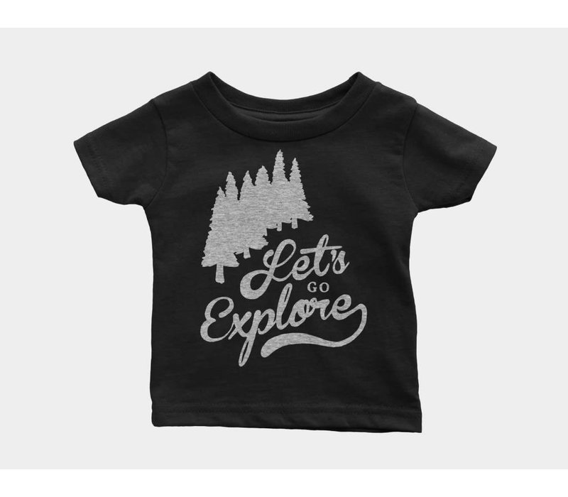 Let's Go Explore Kids Tee