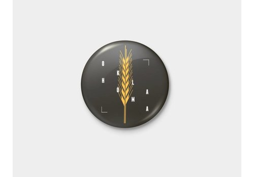 Shop Good Golden Wheat Pinback Button