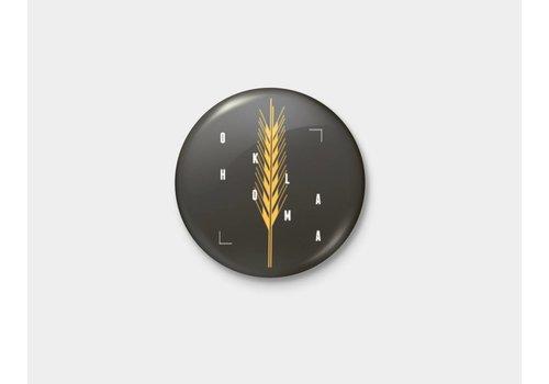 Shop Good Golden Wheat Pinback Button