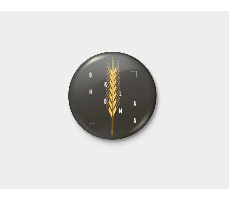 Golden Wheat Pinback Button