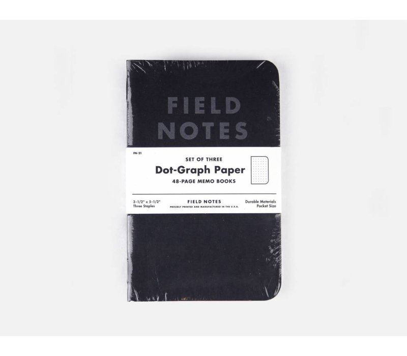 Field Notes - Pitch Black 3-Pack