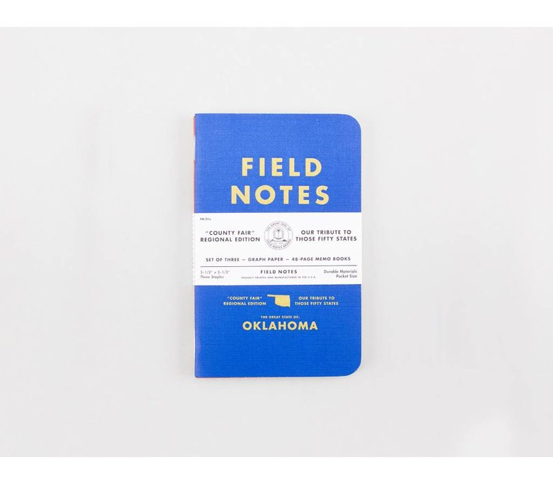 Field Notes - Oklahoma County Fair 3-Pack