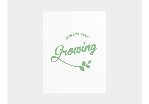 Shop Good Always Keep Growing Card