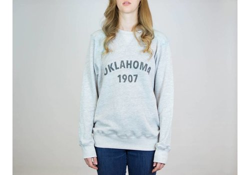 Shop Good Oklahoma Heritage Pullover Sweatshirt Heather Grey
