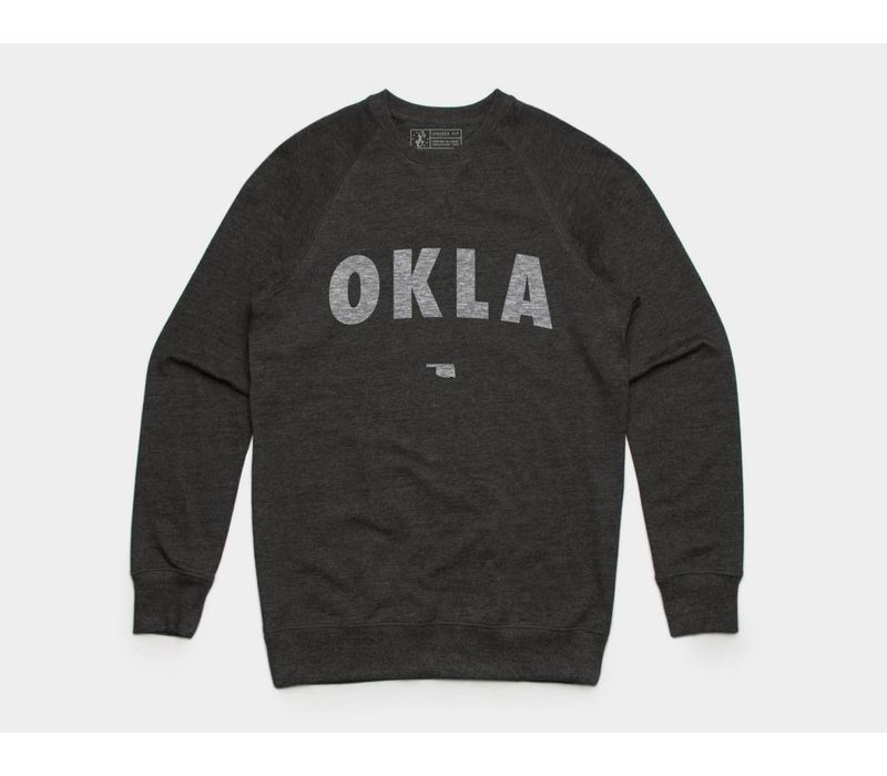 OKLA Pullover Sweatshirt Asphalt Heather
