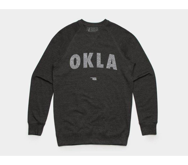 OKLA Pullover Sweatshirt Asphalt Heather