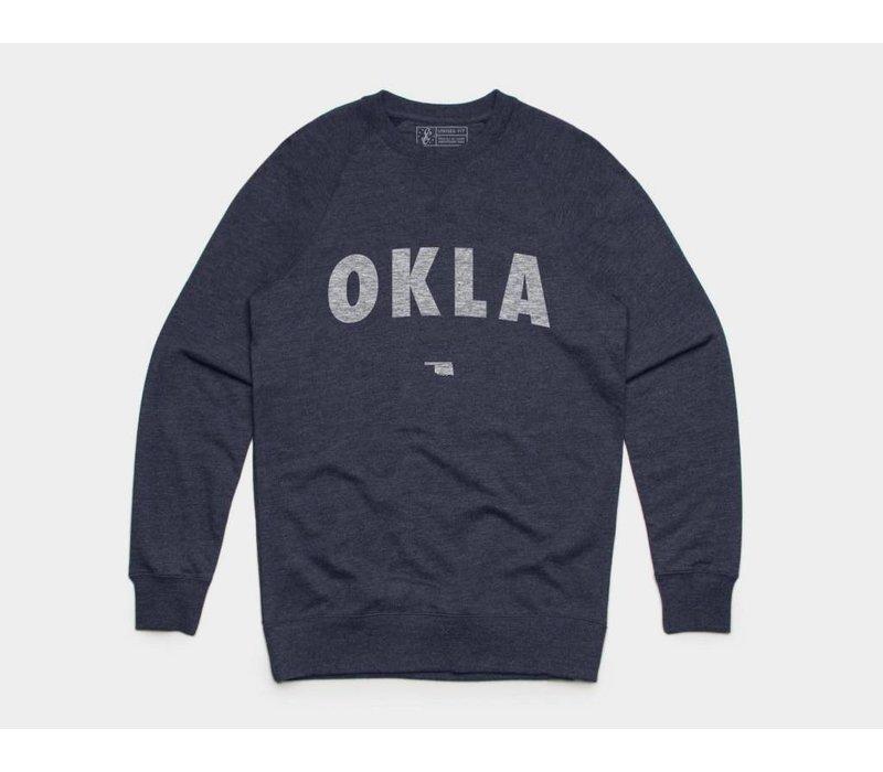OKLA Pullover Sweatshirt Navy Heather