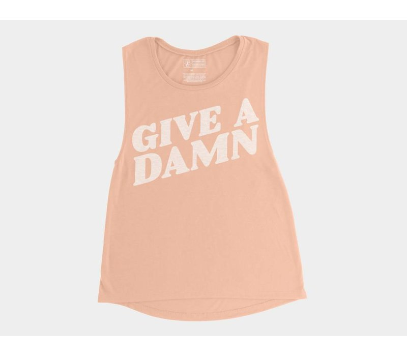 Give A Damn Womens Flowy Scoop Muscle Tee