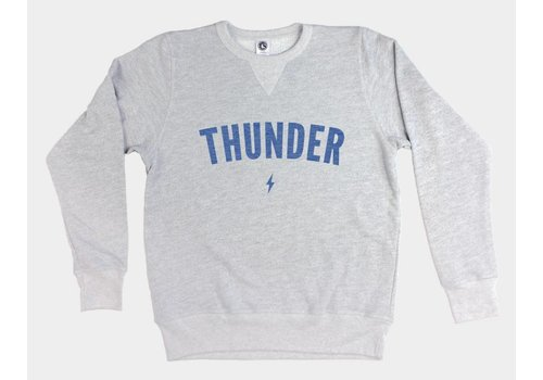 Shop Good Thunder Classic Pullover Sweatshirt Heather Grey