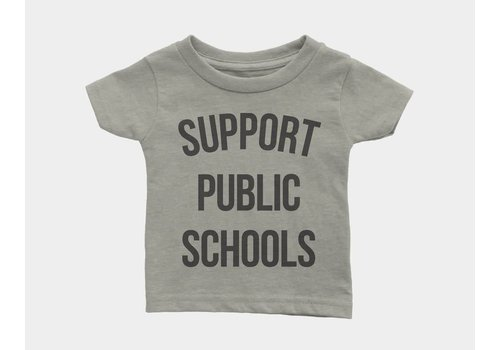 Shop Good Support Public Schools Kids Tee Heather Stone
