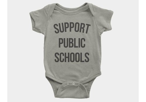 Shop Good Support Public Schools Kids Onesie Heather Stone