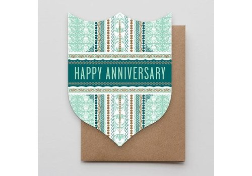 Hammerpress Ornate Anniversary Badge Card