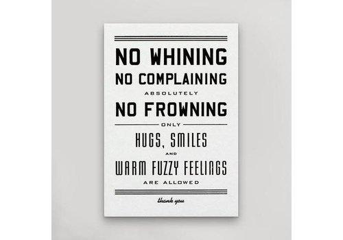 Hammerpress No Whining Postcard