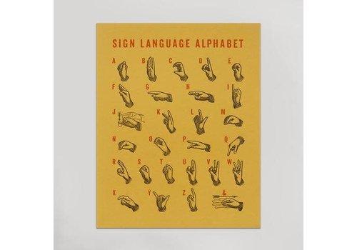 Hammerpress Sign Language Art Print