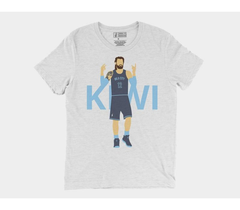 Thunder Icon Kiwi Tee White Fleck Triblend