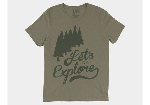 Shop Good Let's Go Explore Tee Olive Triblend