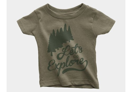 Shop Good Let's Go Explore Kids Tee Olive Triblend