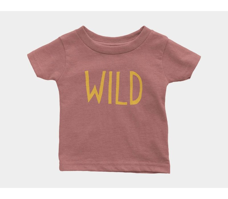 Wild Kids Tee Mauve Triblend