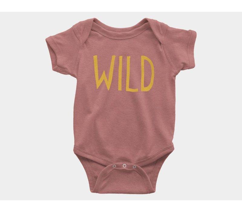 Wild Kids Onesie Mauve Triblend