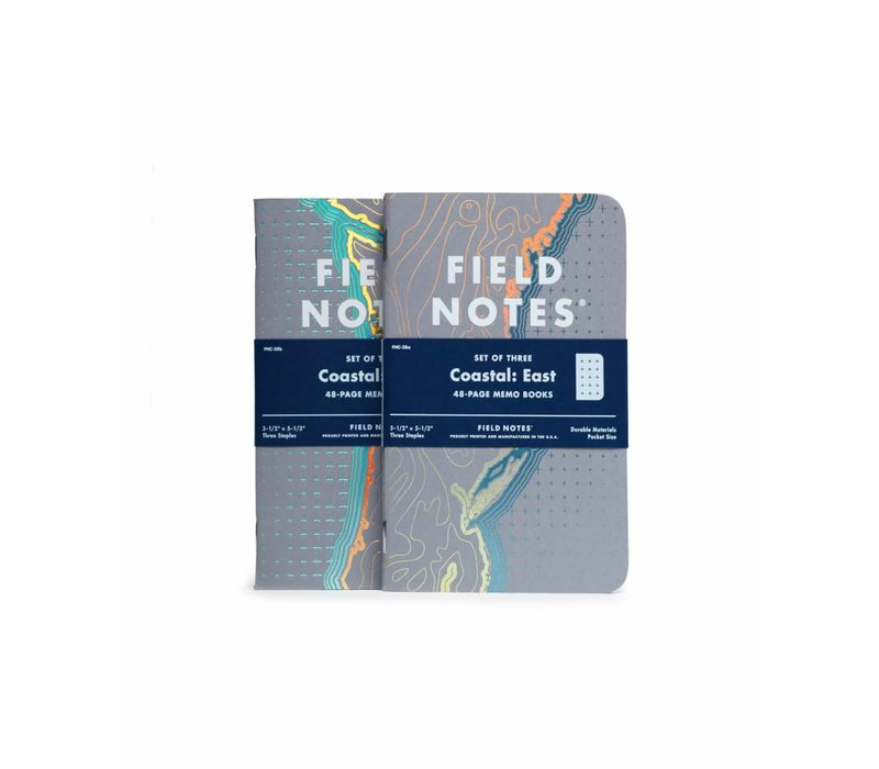Field Notes - Coastal: East 3-Pack