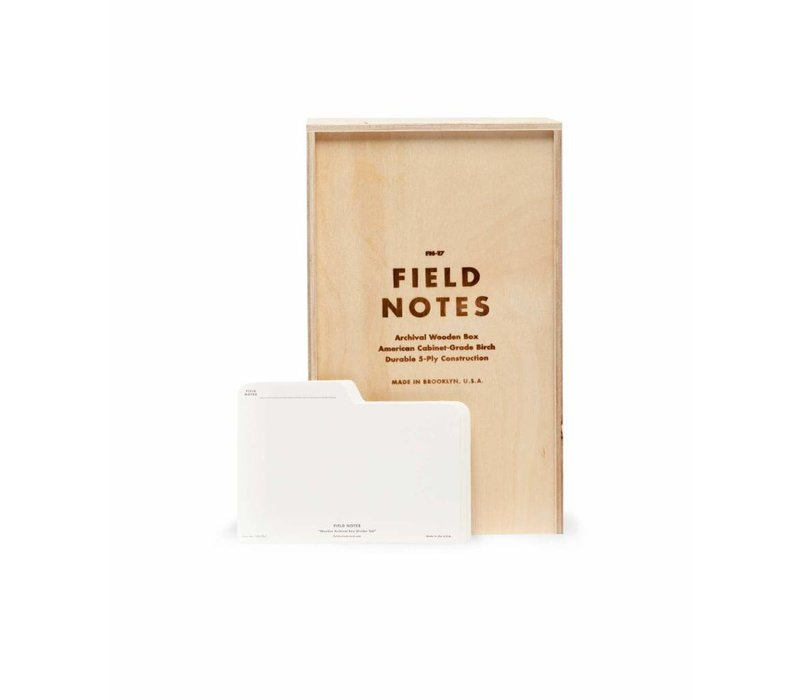 Field Notes - Archival Wooden Box