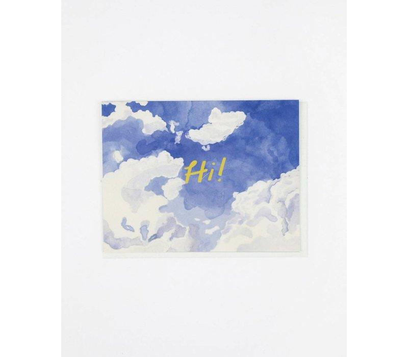 Hi Skywriting Card