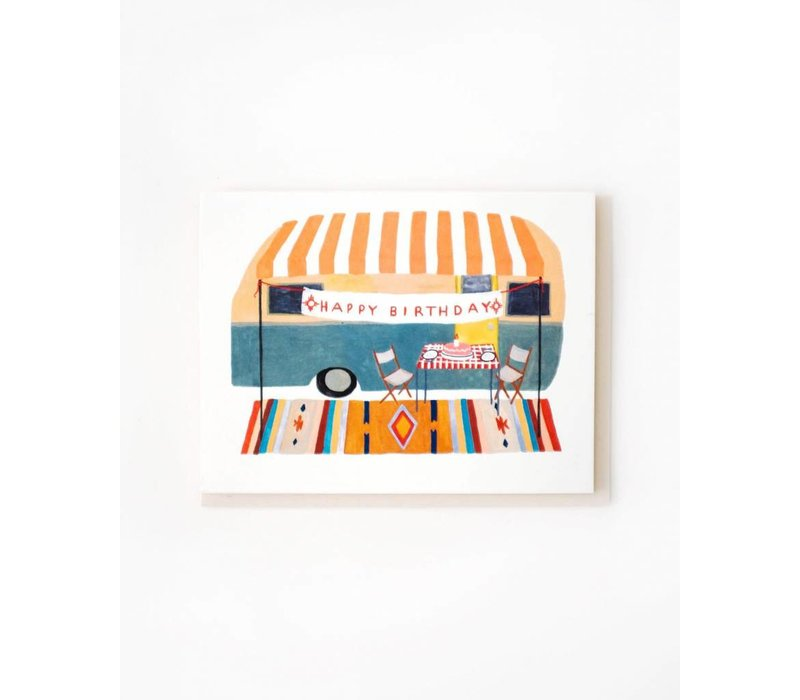 Happy Birthday Camper Trailer Card