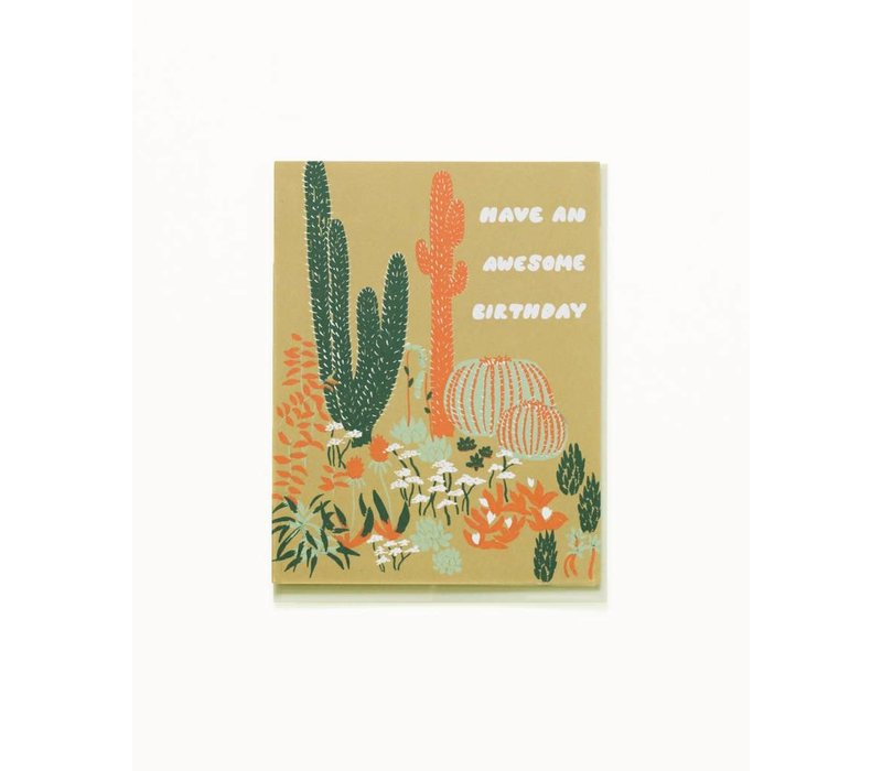 Cacti Vignette Birthday Card