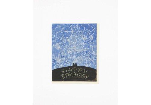 Small Adventure Zodiac Sky Birthday Card
