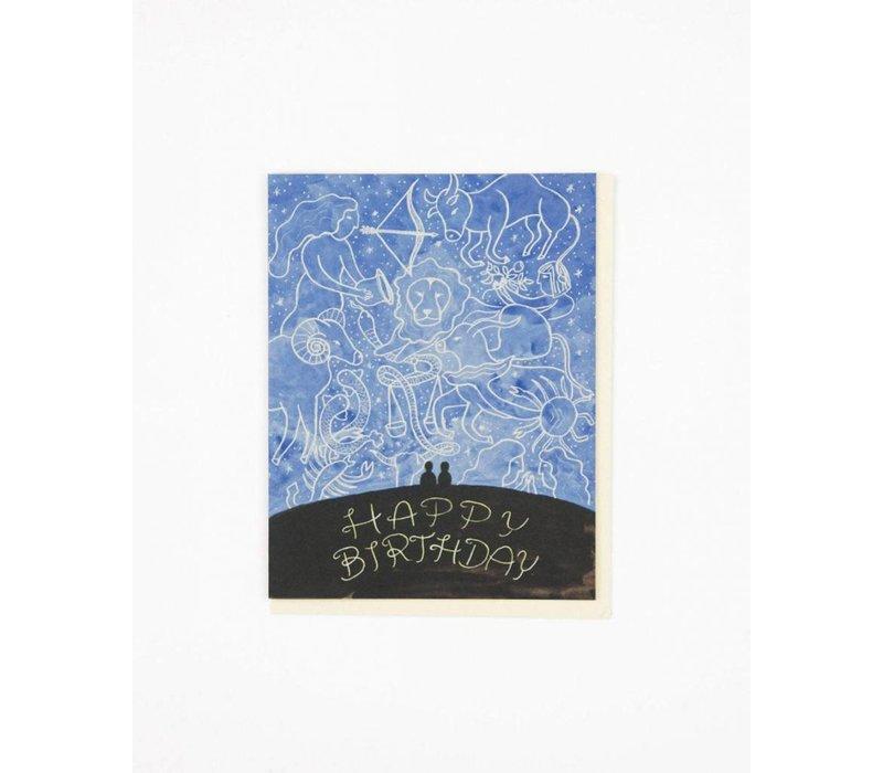 Zodiac Sky Birthday Card