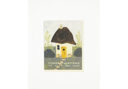 Small Adventure Cob House Congrats Card