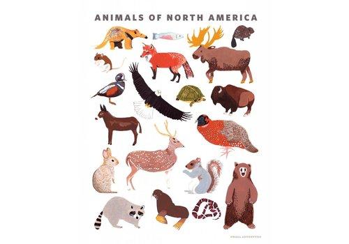 Small Adventure Animals of North America Art Print