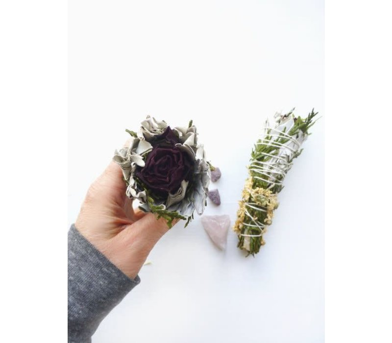 Holy Smoke Smudge Stick - Red Rose