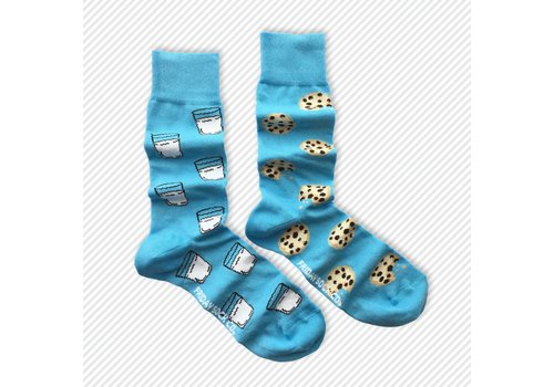 Friday Sock Co. Milk & Cookies Mismatch Socks