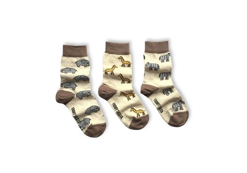 Friday Sock Co. Safari Mismatch Kids Socks