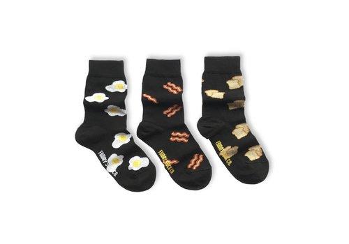 Friday Sock Co. Breakfast Mismatch Kids Socks