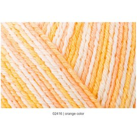 Regia Regia Cotton Color Tutti Frutti #02416 Orange Skein