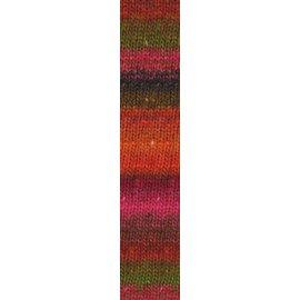 Noro Silk Garden Sock #84 Orange, Red, Pink Skein