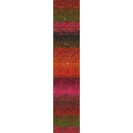 Noro Silk Garden Sock #84 Orange, Red, Pink