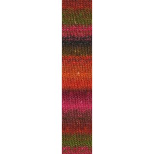 Noro Silk Garden Sock #84 Orange, Red, Pink Skein