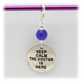 String Theory Colorworks Stitch Marker - Keep Calm, The Doctor is Here