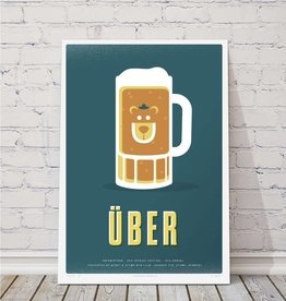 MTBVT Limited Edition Uber Beer Mug Print