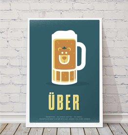 MTBVT Limited Edition Uber Beer Mug Print