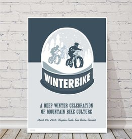 "MTBVT MTBVT Limited Edition Winterbike ""Wonderland"" Print"