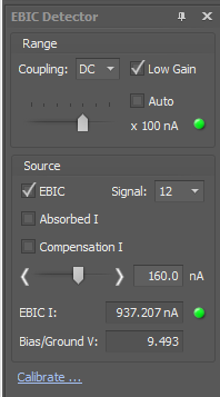 EBIC II Measurement System UI control window